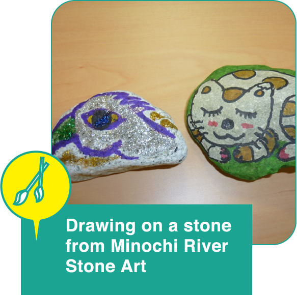 Stone Art —Drawing on a stone from Minochi River